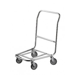Luggage trolley, chrome