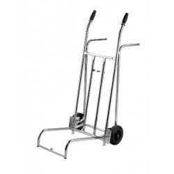 Luggage trolley, chrome steel