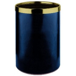 Brass bedroom wastepaper, leather look