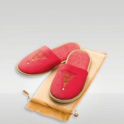 Papuci din velur