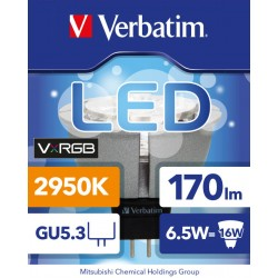VERBATIM LED VxRGB NATURAL VISION MR16 GU5.3 6.5W 2950K WW 170LM 25 DIM CRI95