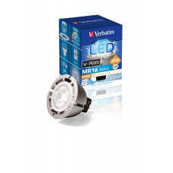VERBATIM LED VxRGB MR16 GU5.3 6.5W 2900K WW 155LM 36 DIM